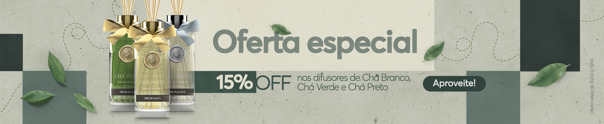 Banner - 15% Off Difusores