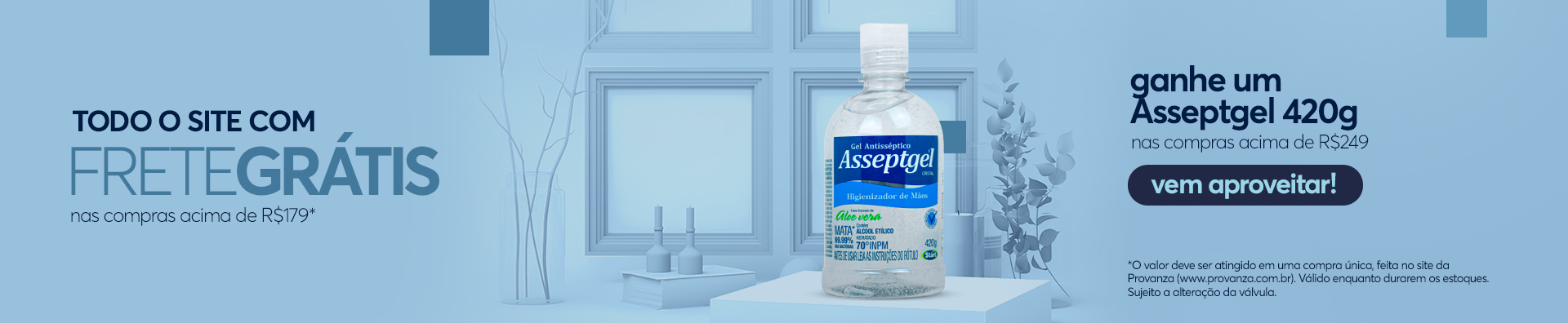 Banner - Compre e Ganhe - Álcool gel 420g